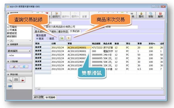 廠商交易資料快速回應系統